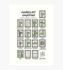 modern art simplified Art Print