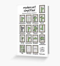modern art simplified Greeting Card