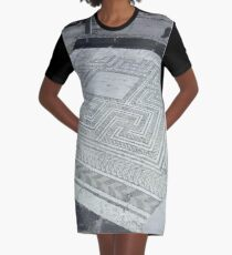 Roman mosaic on the floor Graphic T-Shirt Dress