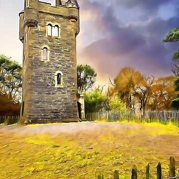 Helens Tower, Conlig , Ireland. (Painting) by cmphotographs