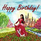 Princess Birthday Card by EuniceWilkie