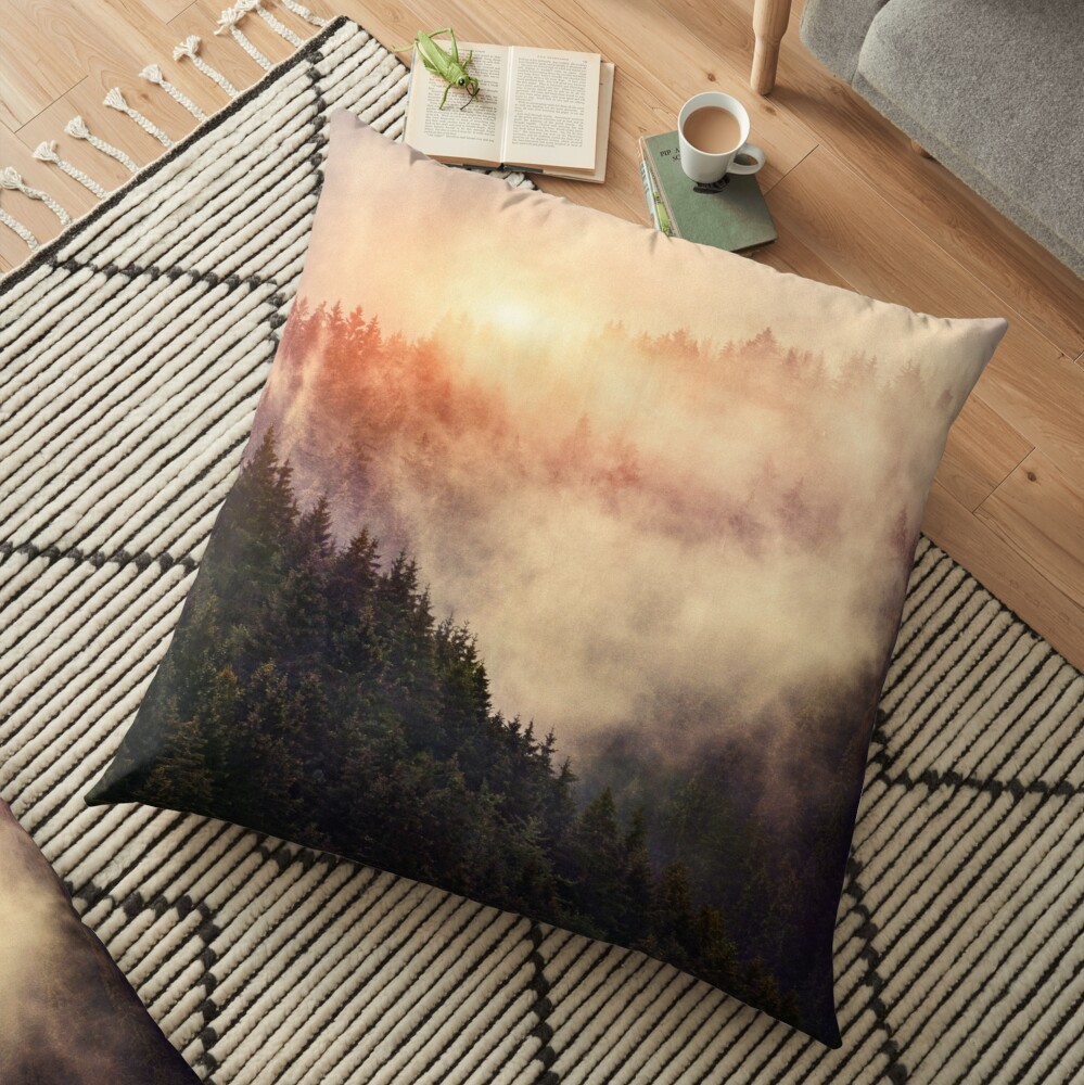 In My Other World Floor Pillow