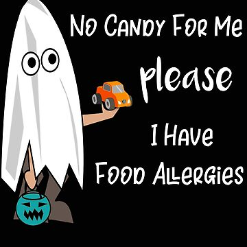 Teal Pumpkin No Candy For Me Please Food Allergy Trick or Treat by stacyanne324