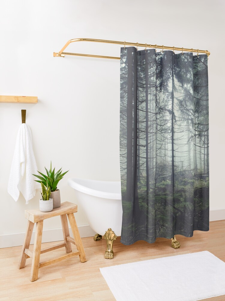 Alternate view of Through The Trees Shower Curtain