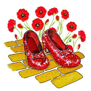 Ruby Slippers And Red Poppies  by IrinaSztukowski