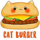 «Gato burger - Hamburguesa gatuna kawaii» de linkitty