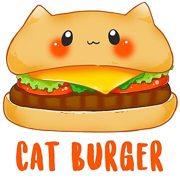 Cat Burger kawaii kitty fastfood by linkitty