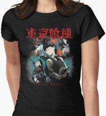 Kaneki Ken Cover Womens Fitted T-Shirt