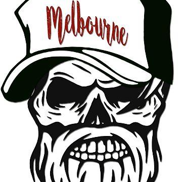 Melbourne Australia Hometown Hipster Skull Trucker Cap Death by lemmy666