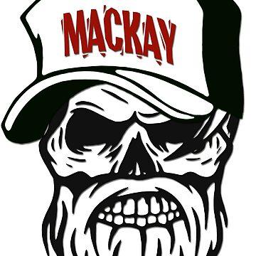 Mackay Australia Hometown Hipster Skull Trucker Cap Death by lemmy666