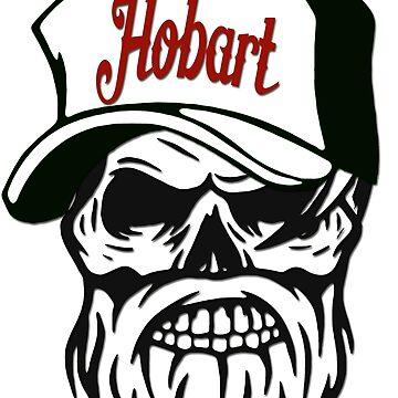 Hobart Australia Hometown Hipster Skull Trucker Cap Death by lemmy666