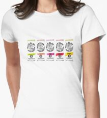 White Claw Illustration Women's Fitted T-Shirt