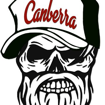 Canberra Australia Hometown Hipster Skull Trucker Cap Death by lemmy666