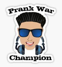 DJ Pauly D Prank War Champion Sticker and Tees Pauly D from Jersey Shore Sticker