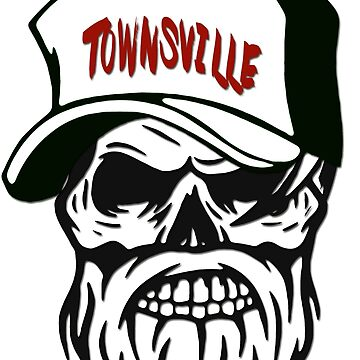Townsville Australia Hometown Hipster Skull Trucker Cap Death by lemmy666