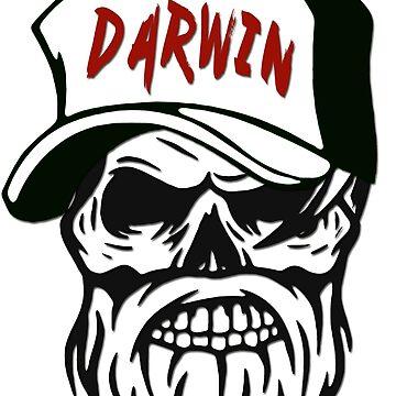 Darwin Australia Hometown Hipster Skull Trucker Cap Death by lemmy666