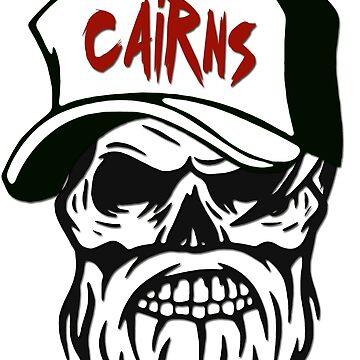 Cairns Australia Hometown Hipster Skull Trucker Cap Death by lemmy666