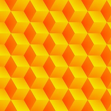 Orange & Yellow Abstract hexagonal background futuristic geometric seamless luxury pattern by Darcraft28