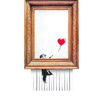 Cool Banksy Girl with Balloon Shredded Art Stencil Political Brexit Protest Graffiti Women Men Gift Summer Holiday Clothes T-Shirt by legologo