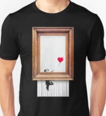 Cool Banksy Girl with Balloon Shredded Art Stencil Political Brexit Protest Graffiti Women Men Gift Summer Holiday Clothes T-Shirt Unisex T-Shirt
