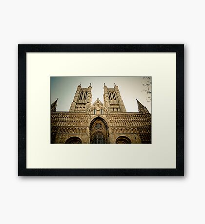 The West Front of Lincoln Cathedral Framed Print