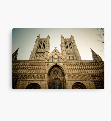The West Front of Lincoln Cathedral Canvas Print