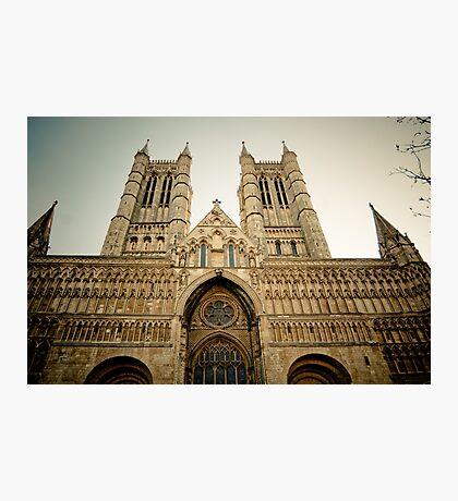 The West Front of Lincoln Cathedral Photographic Print