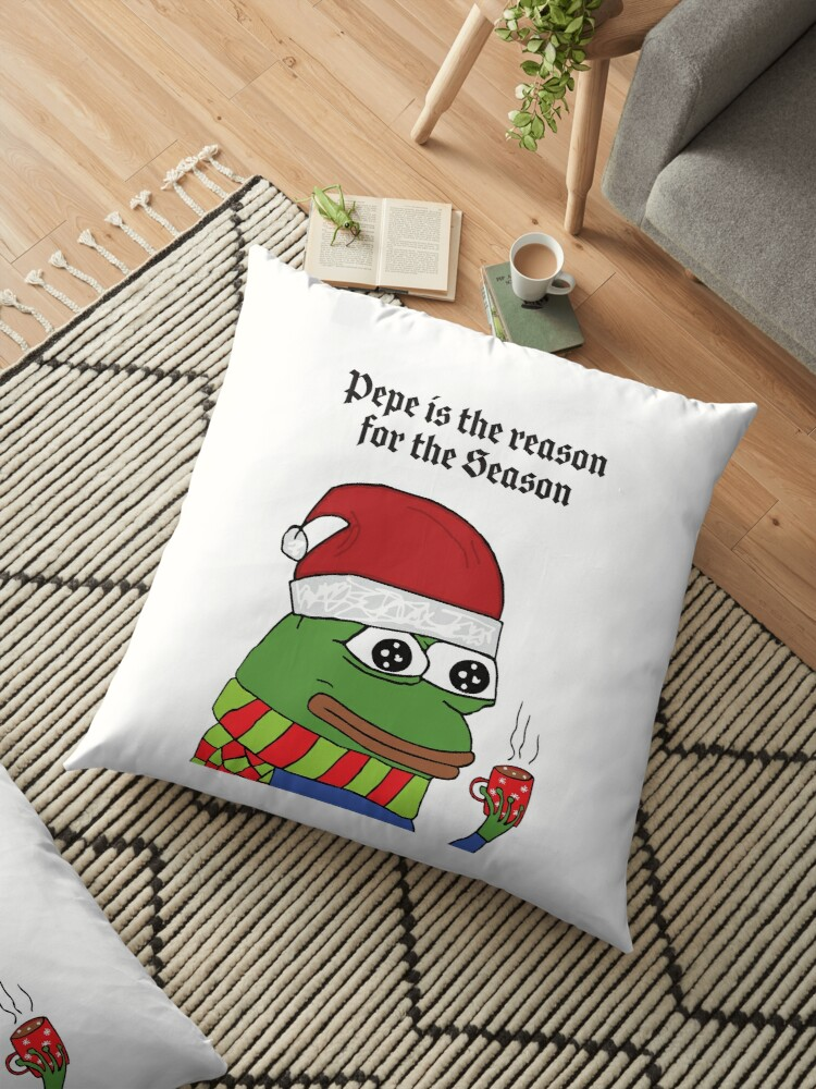 d8ae25042c PepeTheFrog Kekistan Christmas Card Pepe is the reason for the Season memes  rare pepe the frog with Santa Claus Hat and hot chocolate HD HIGH QUALITY