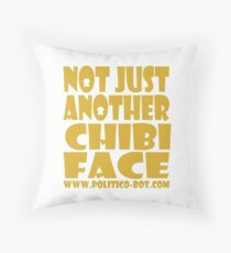 POLITICO'BOT: Not Just Another Chibi Face Throw Pillow