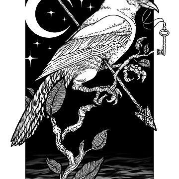 Nachtkrähe von deniart