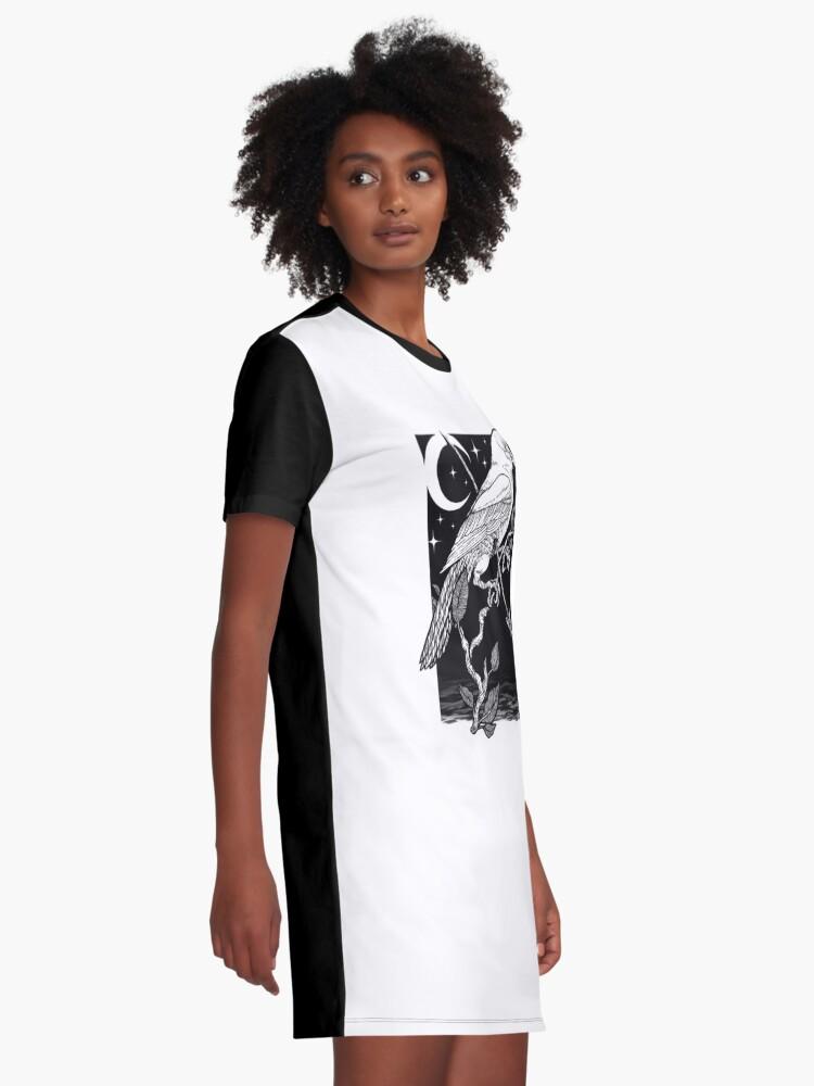Vista alternativa de Vestido camiseta Noche cuervo