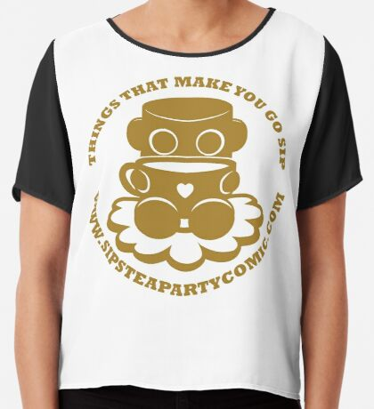 STPC: Things That Make You Go Sip (Gold O'BOT) 1.0 Chiffon Top