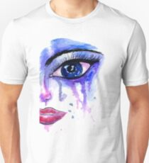 Painted Stylized Face Unisex T-Shirt