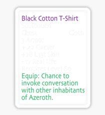 Equip Black Cotton T-shirt Sticker