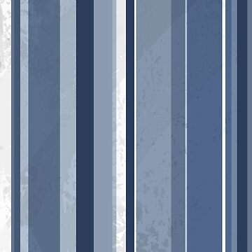 Retro Blue and White Stripes by ImagineThatNYC