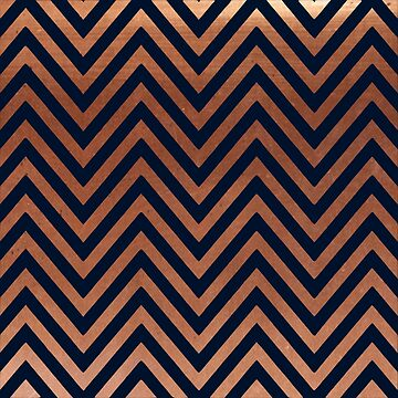 Navy blue and copper chevron by hellcom