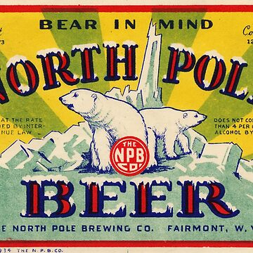 North Pole Vintage Beer Label Restored by vintagetreasure