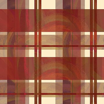 Madras Plaid Fall Red Stripes by ImagineThatNYC
