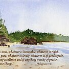 The Peaceful Choice -  Philippians 4:8 by Diane Hall