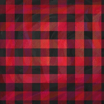 Checkered Plaid Red and Black  by ImagineThatNYC