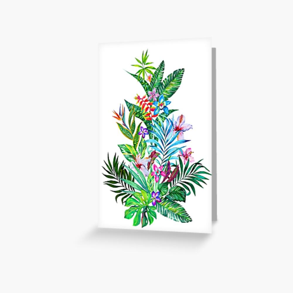 Tropisches Fest Grußkarte