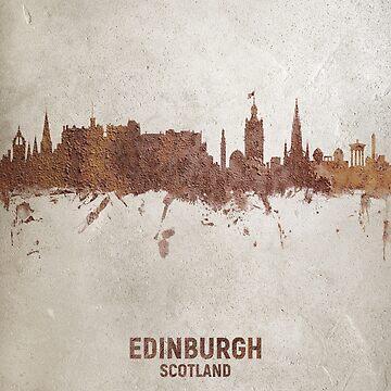 Edinburgh Scotland Rust Skyline by ArtPrints