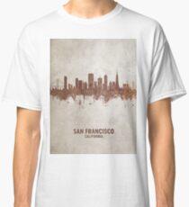San Francisco California Rust Skyline Classic T-Shirt