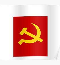 communist flag Poster