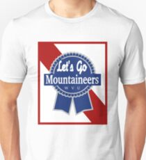 Lets Go Mountaineer Pabst Design Unisex T-Shirt