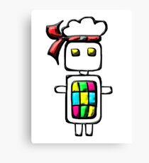 Ninja-bot Mascot  Canvas Print