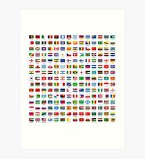 Lámina artística Banderas del mundo