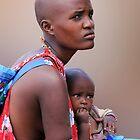 MASAI MOTHER AND CHILD 2 by Michael Sheridan