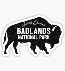 Badlands National Park South Dakota American Bison Buffalo Sticker