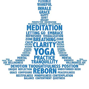 Yoga: Meditation words list by WeeTee